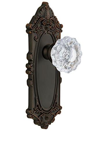 Grandeur Grande Victorian Plate with Versailles Crystal Knob, Single Dummy, Timeless Bronze