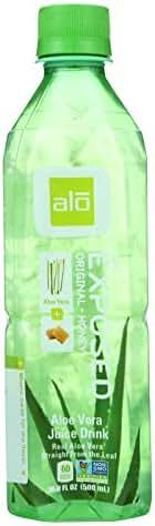 Alo Original Exposed Aloe Vera Drink, 16.9 Ounce - 12 per case.
