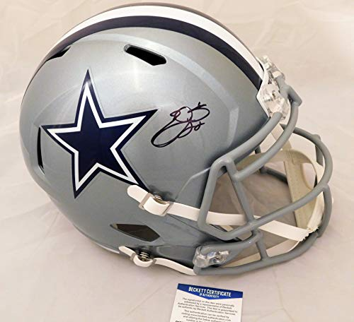 Emmitt Smith Signed/Autographed Dallas Cowboys Full Size Replica Speed Helmet Beckett & PROVA COA ()