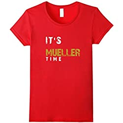 Womens It's Mueller Time Anti Trump Resist Shirt XL Red