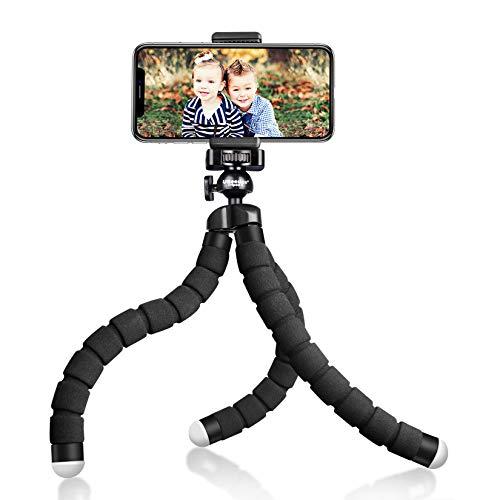 UBeesize Tripod S، Premium Phone Tripod، Tripod انعطاف پذیر با شاتر از راه دور بی سیم ، سازگار با آیفون / آندروید سامسونگ ، دارای دارندگان کوتاه سه پایه ایستاده برای دوربین GoPro / تلفن همراه همراه (به روزرسانی)