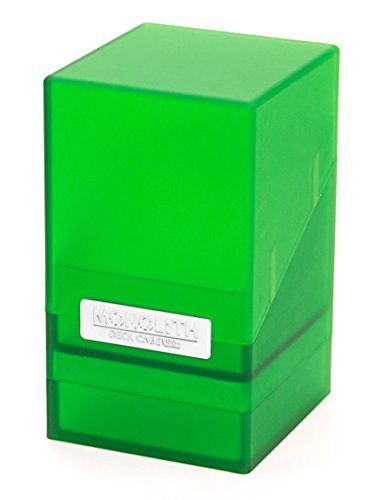 - Ultimate Guard Standard Size 100 Plus Monolith Deck Case (Emerald) by Ultimate Guard