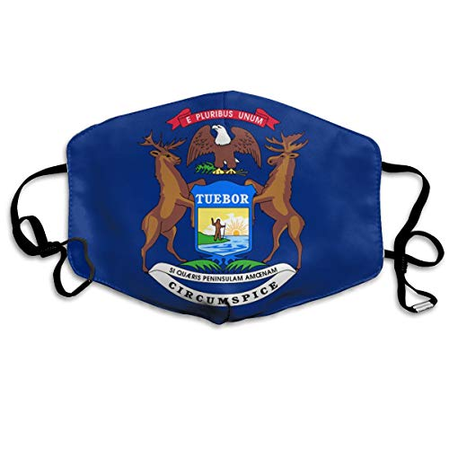 SDQQ6 Flag of Michigan Mouth Mask Unisex Printed Fashion Face Mask Anti-dust Masks ()