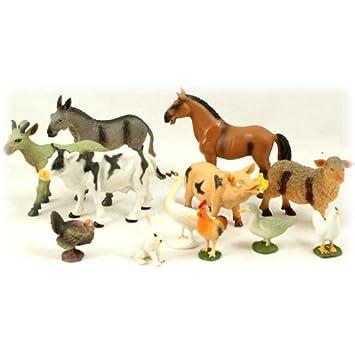 Peterkin 12pc Farm Animal Set: Amazon co uk: Toys & Games