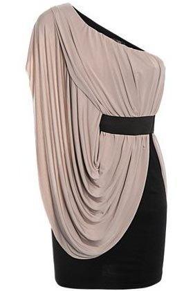 Crazy Girls Womens One Shoulder Side Drape Dress