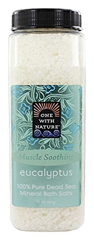 One With Nature Dead Sea Mineral Bath Salts Eucalyptus 946 ml by One With Nature