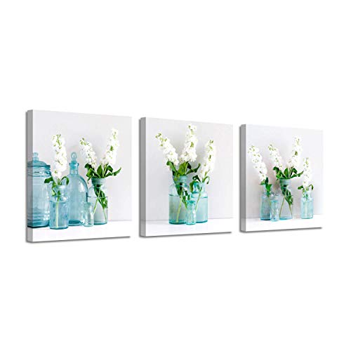 Floral Artwork Picture Canvas Prints: Flowers in Table Vase Graphic Art for Wall