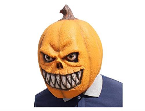 Masquerade Horror Pumpkin Headgear Latex Mask Scary Party Full Face Mask Kids Party Funny Halloween Masquerade -