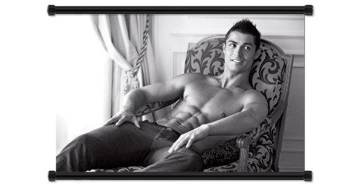 Cristiano Ronaldo Soccer Futbol Starファブリック壁スクロールポスター( 32
