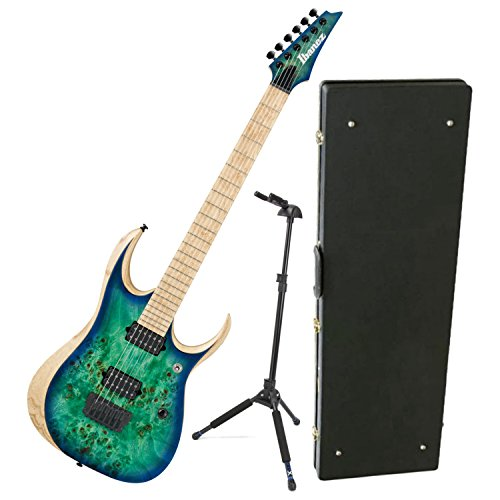 - Ibanez Iron Label RGD Series RGDIX6MPB Surreal Blue Burst Electric Guitar w/ Hard Case and Locking Stand
