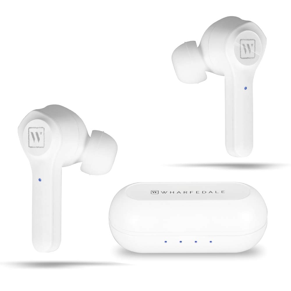 TWS Bluetooth Earphones Touch Control 16 Hours Playtime Wireless Earbuds in-Ear Noise-cancelling Microphones HiFi Sound Quality Wharfedale WPods Bluetooth5.0 Wireless Headphones