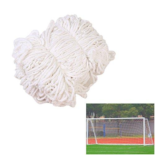 Smart Fun Fußballtornetz 7,3mx2,4m Ersatznetz für Sports Fußball Fußballtor Tornetz Netz, 3 Größe (1,8m x 1,2m, 3,6m x 1,8m, 7,3m x 2,4m) Weiß