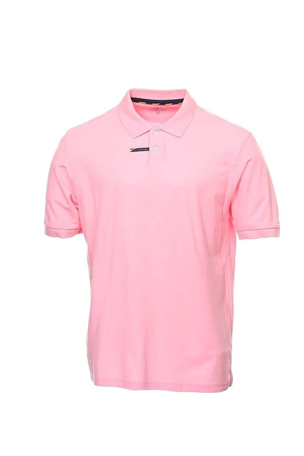 Club Room Men's Estate Performance Pique Polo Shirt Large L Sorbet Pink