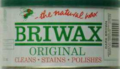 Briwax Darkbrown (Dark Brown) Furniture Wax, Cleans, Stains, and - Polish Briwax Wax