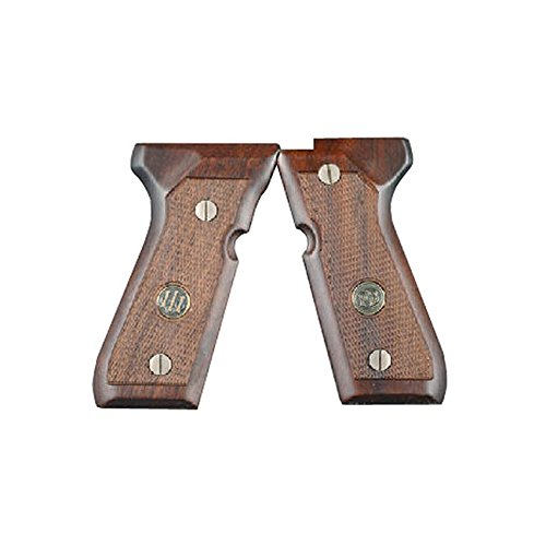 Beretta Grips 92 96FS Walnut Checkered with Medallion
