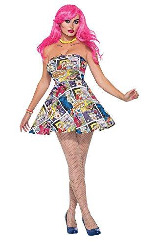 Forum Novelties 76718 Pop Art Dress (uk 10-12) -