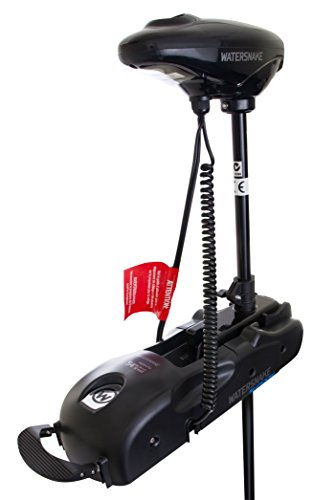 Watersnake FWDR54-48 Shadow Foot Control Bow Mount Trolling Motor, 54-Pound Thrust, 48-Inch Shaft, 12-Volt, Black
