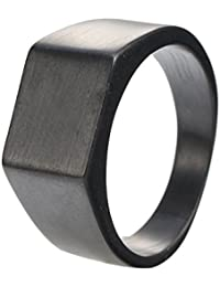 Mens Womens Fingers Good Polished Minimalist Stainless Steel Simple Ring 3 Colors