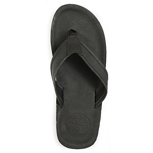 Animal Men Jekyl Leather Thong Sandals Black