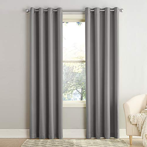 Sun Zero Barrow Energy Efficient Grommet Curtain Panel, 54