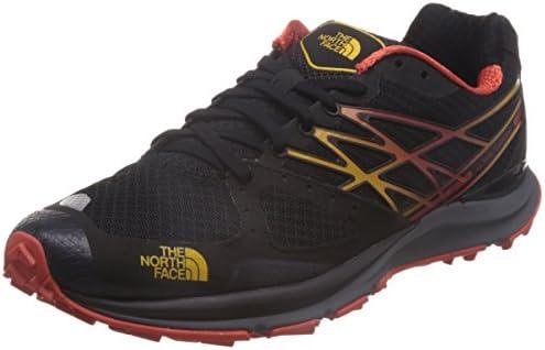 The North Face - Zapatillas para correr en montaña para hombre Negro TNF Schwarz/TNF Gelb: Amazon.es: Zapatos y complementos