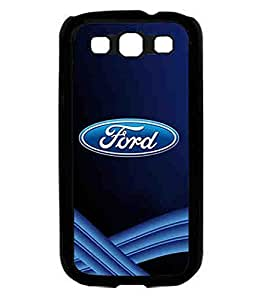 Ford Car Logo,Blue Thin Fit Hard Back Carcasa Cover Shellfor For Samsung Galaxy S3 I9300 Carcasa Designed By CustomItemSty
