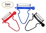 Magic Trio Peeler [2018 NEW] - Peel Anything In Seconds With The Amazing 3pc Peeler Set (Set of 3) [Ship From US]