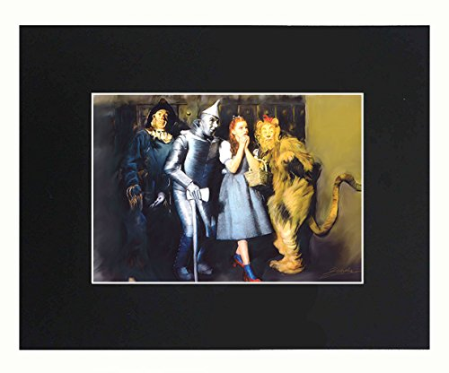 (The Wizard of Oz 8x10 Black Matted Art Artworks Print Paintings Printed Picture Photograph Poster Gift Wall Decor Display)