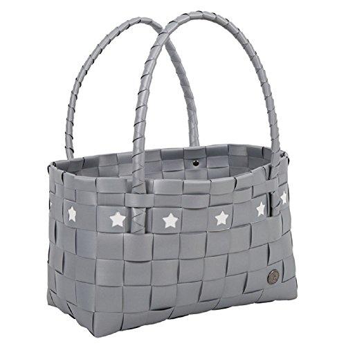 HANDED BY - Tasche - Shopper - Mallorca - Farbe: silber mit weißen Sternen