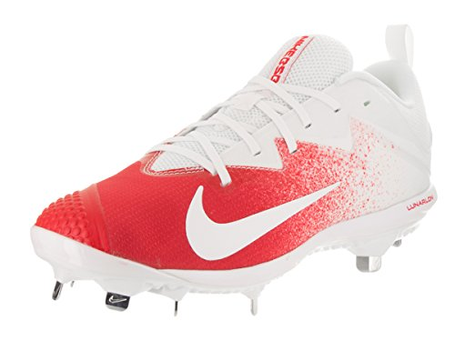 NIKE Men's Lunar Vapor Ultrafly Pro University Red/White Volt Baseball Cleat 8.5 Men US