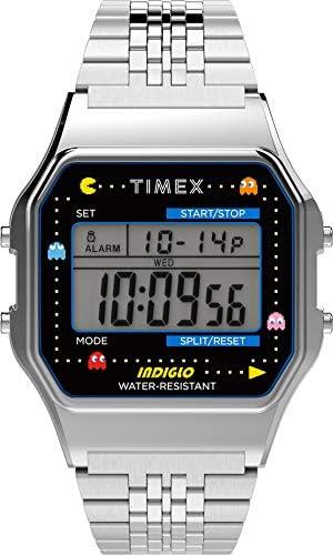 Timex T80 X Pac-Man Digital Grey Dial Unisex's Watch-TW2U31900
