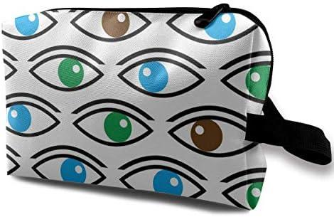 Bolsas de cosméticos de Viaje Color Ojos Mirándote Bolsa de Almacenamiento Estuche de Maquillaje Bolsa de artículos de tocador Oxford Bolsa de Embrague de Maquillaje portátil: Amazon.es: Equipaje