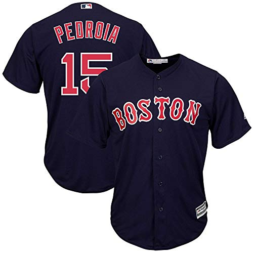 Dustin Pedroia Boston Red Sox Navy Blue Youth Cool Base Alternate Replica Jersey (Medium 10/12)