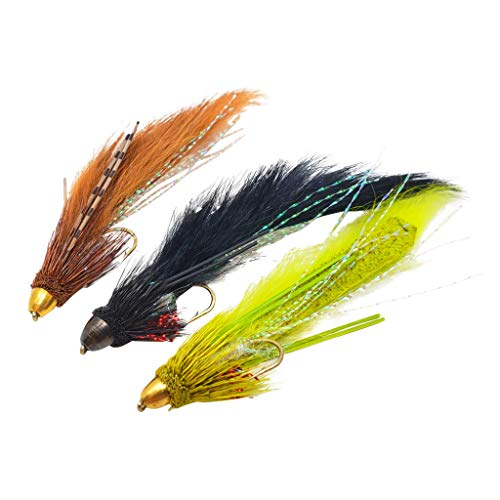 The Fly Crate Muddy Bunny Streamer Assortment | Fly Fishing for Trout Bass Pike | Size 8