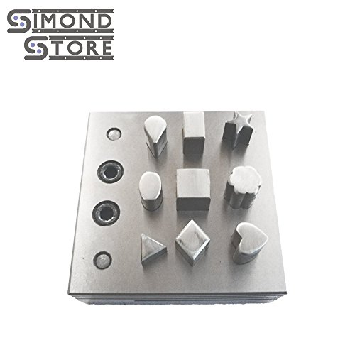 Disc Cutter 9 Assorted Shapes Punch Tool Various Design Forms For Stamping Blanks Gold Silver Metal Coins Jewelry Making Metalsmith