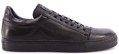 Scarpe Sneakers Uomo BELSTAFF 77800201 Wanstead Low Sneakers Man Black Pelle New