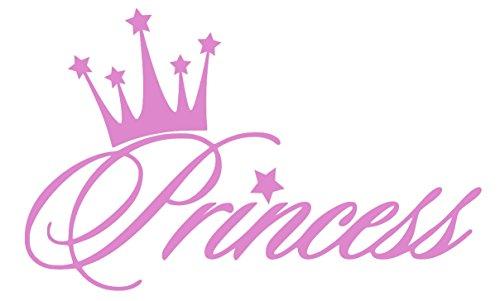 [Pnk Princess Crown Decal Vinyl Sticker|Cars Trucks Walls Laptop|PINK|5.5 In|URI281] (Tattoos Of Princess Crowns)