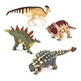 Terra by Battat - 4 Dinosaur Toys, Medium - Dinosaurs for Kids & Collectors, Scientifically Accurate & Designed by A Paleo-Artist; Age 3+ (4 Pc)