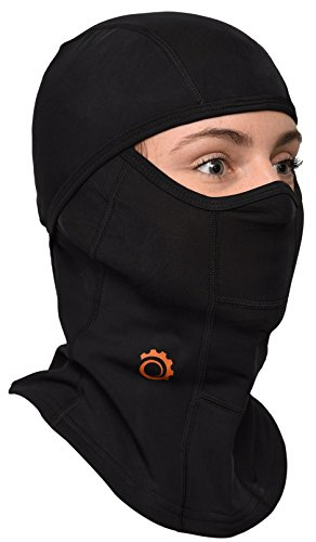 Balaclava by GearTOP, Best Full Face Mask, Premium Ski Mask and Neck Warmer for Motorcycle and Cycling, Black ()