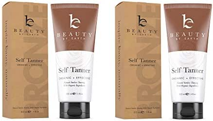 Self Tanner with Organic & Natural Ingredients, Tanning Lotion, Sunless Tanning Lotion for Flawless Darker Bronzer Skin, Self Tanning Lotion - Self Tanners Best Sellers, Fake Tan (2pk)