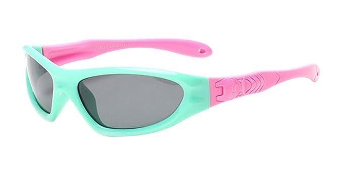 XFentech Unisexo Niños Polarizadas Gafas de Sol Deportivas para Niños & Niñas Flexible Rubber Gafas ,