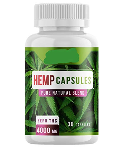Binweed Hemp Oil Capsules, 4000MG Per Bottle, with Omega 3, 6, 9, for Sleep Support, Restlessness and Brain Health (30)