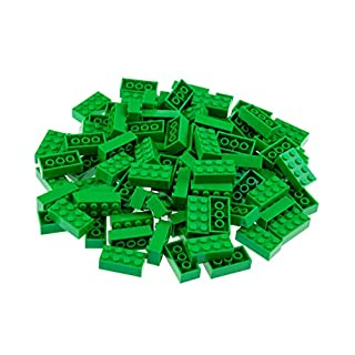 Strictly Briks Classic Bricks 96 Piece 2x4 Green Building Brick Creative Play Set - 100% Compatible with All Major Brick Brands