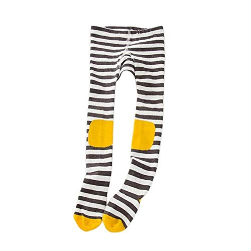 - Kingspinner Children Girls Dance Tights Elastic Cartoon Big Eyes Print Striped Panty Hose Leggings Stockings (G, L/5-7 Years)