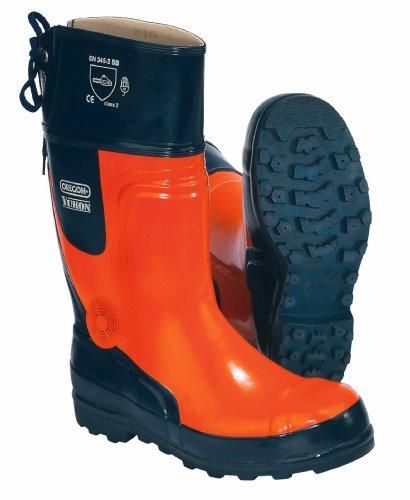 Oregon Yukon - Botas de protección contra cortes y hielo (talla: 38-48, goma, para trabajos forestales)