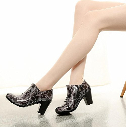 with rain Y zipper QQnvYUXUE boots low shoes high ladies rain rubber amp;JAXIE waterproof boots 36 Rough shoes SWW1H