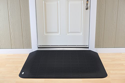 EZ Edge Transition Threshold Ramp - 2-1/2'' H x 34-1/4'' L x 46'' W by SafePath Products