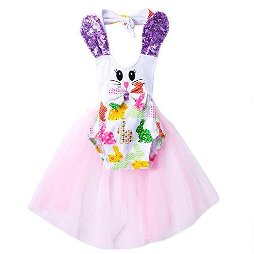 LUNIWEI Kids Baby Dress Girls Cartoon Design Romper Bodysuit Dresses