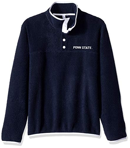 chicka-d NCAA Officially Licensed Penn State University Ladies Looped Terry Snap Pullover/Quarter Button Up/Sweater - PSU Nittany Lions Women's Apparel