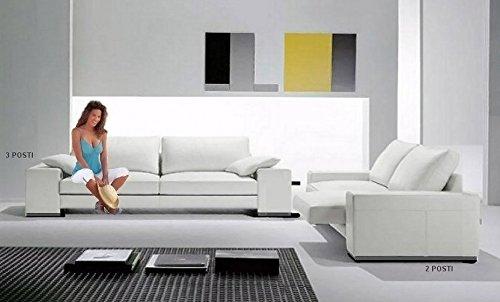 Sofa Relax Original Ball, Leder geschliffen Divano 3 posti con 2 sedute allung. - 250x86x100cm Pelle Smerigliata Marrone Chiaro